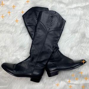 Tahari black Rupert knee high riding boots size 7